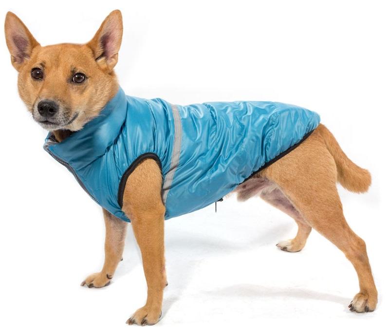 Жилет для собак Gamma Аквамарин, двухсторонний, размер