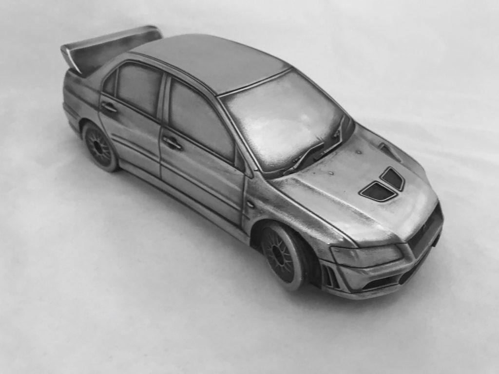 Скульптура автомобиль 'Mitsubishi Lancer', металл, 23 см