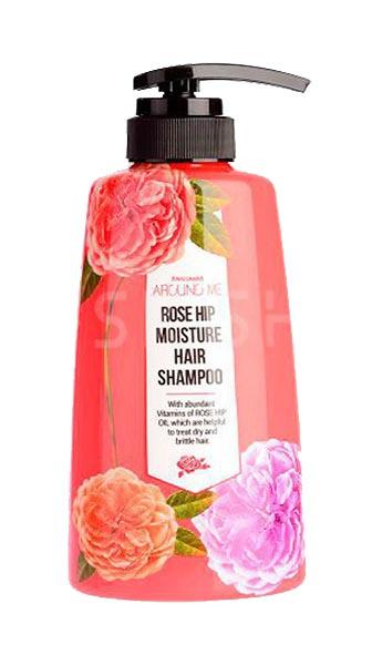 Шампунь Welcos Around me Rose Hip Hair Shampoo 500 мл фото