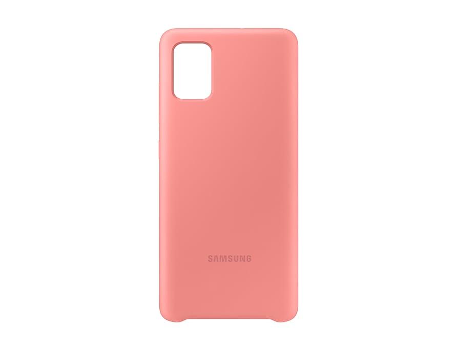 Чехол Samsung Silicone Cover для Samsung A51 Pink фото