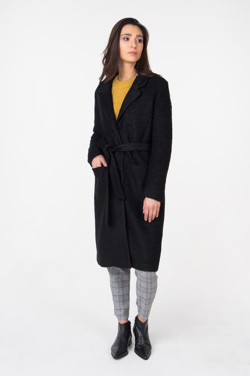 Пальто-халат женское b.young 20804504 черные 40 EU