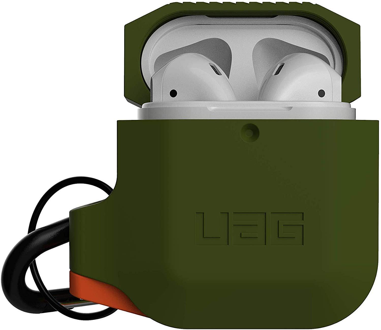Чехол Urban Armor Gear Silicone Case для AirPods Olive Drab/Orange