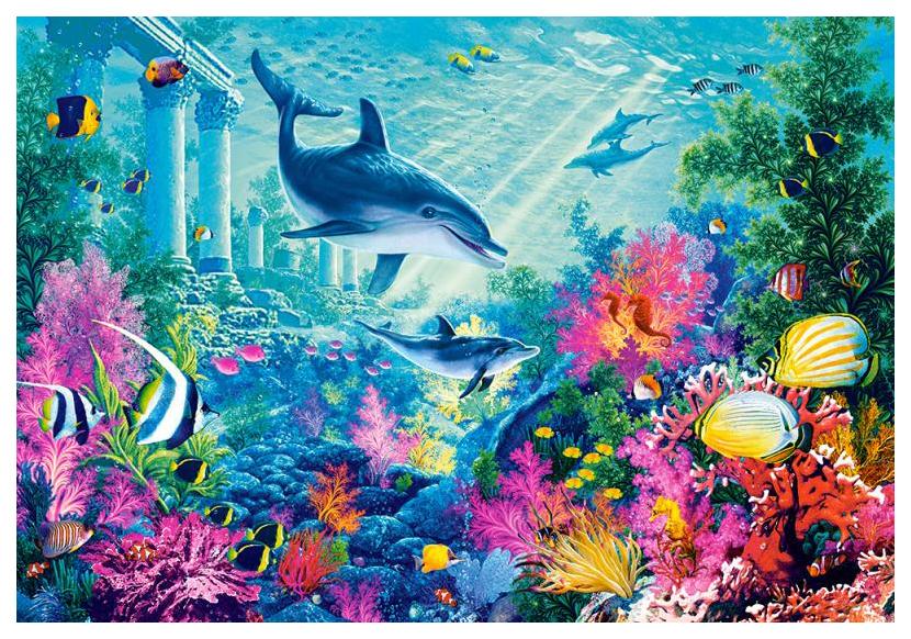 Пазл Castorland Животные 1000 деталей, Подводный мир