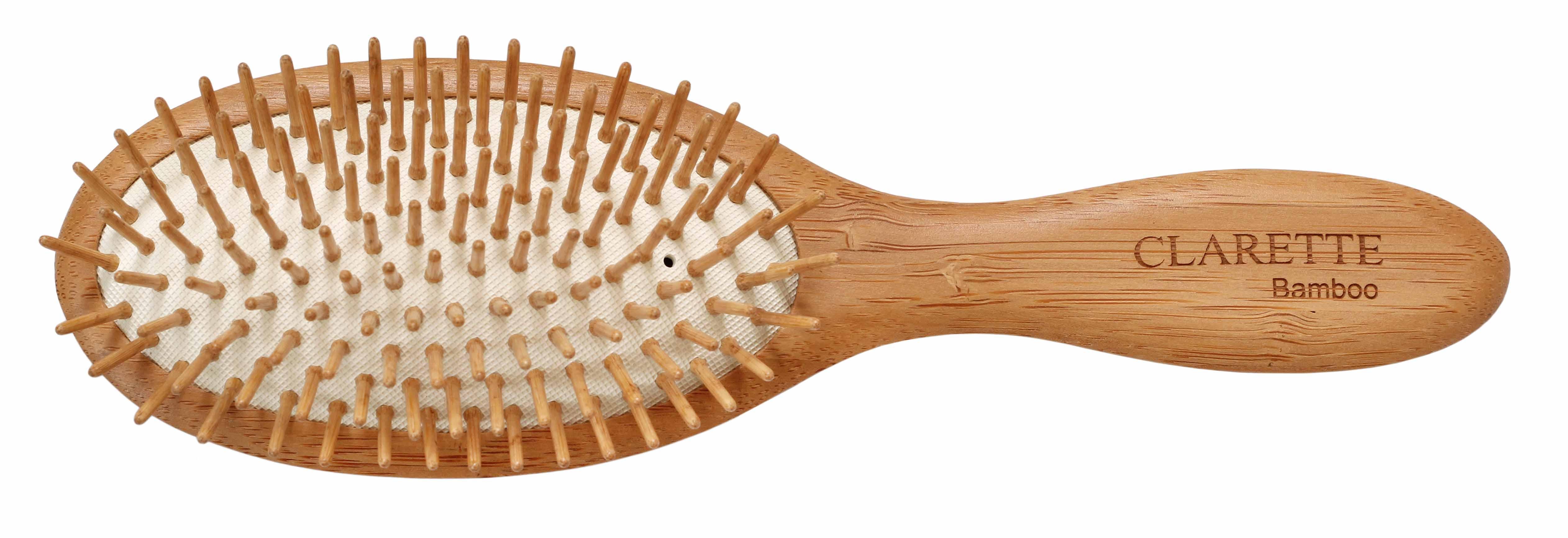 Купить Щетка для волос CLARETTE на подушке с бамбуковыми зубьями