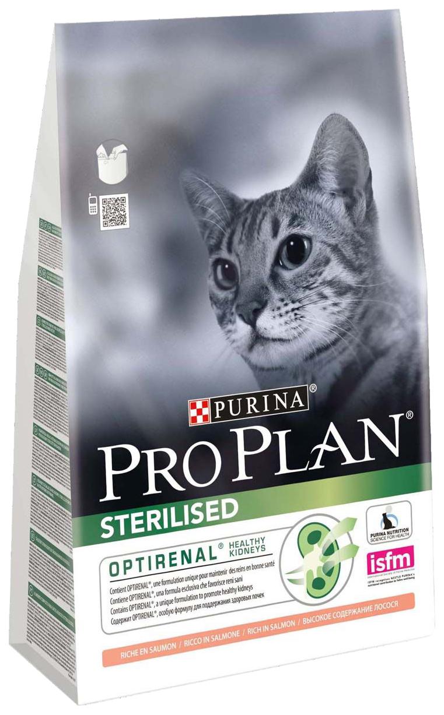 Сухой корм для кошек PRO PLAN Sterilised, для стерилизованных, лосось, 3кг фото
