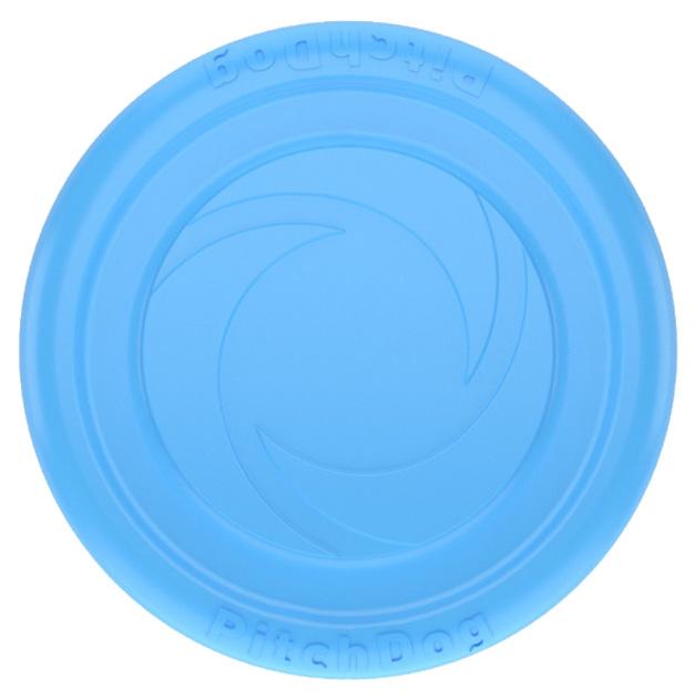 Апорт для собак PitchDog Летающий диск, голубой,