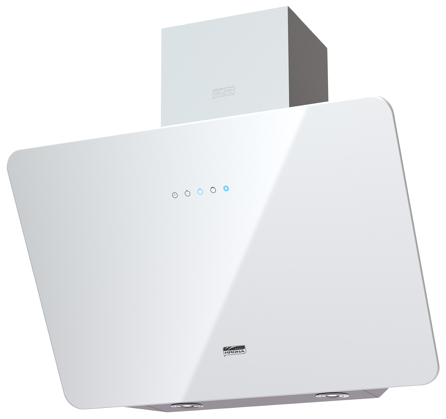 Вытяжка наклонная KRONAsteel Liora 600 S White фото