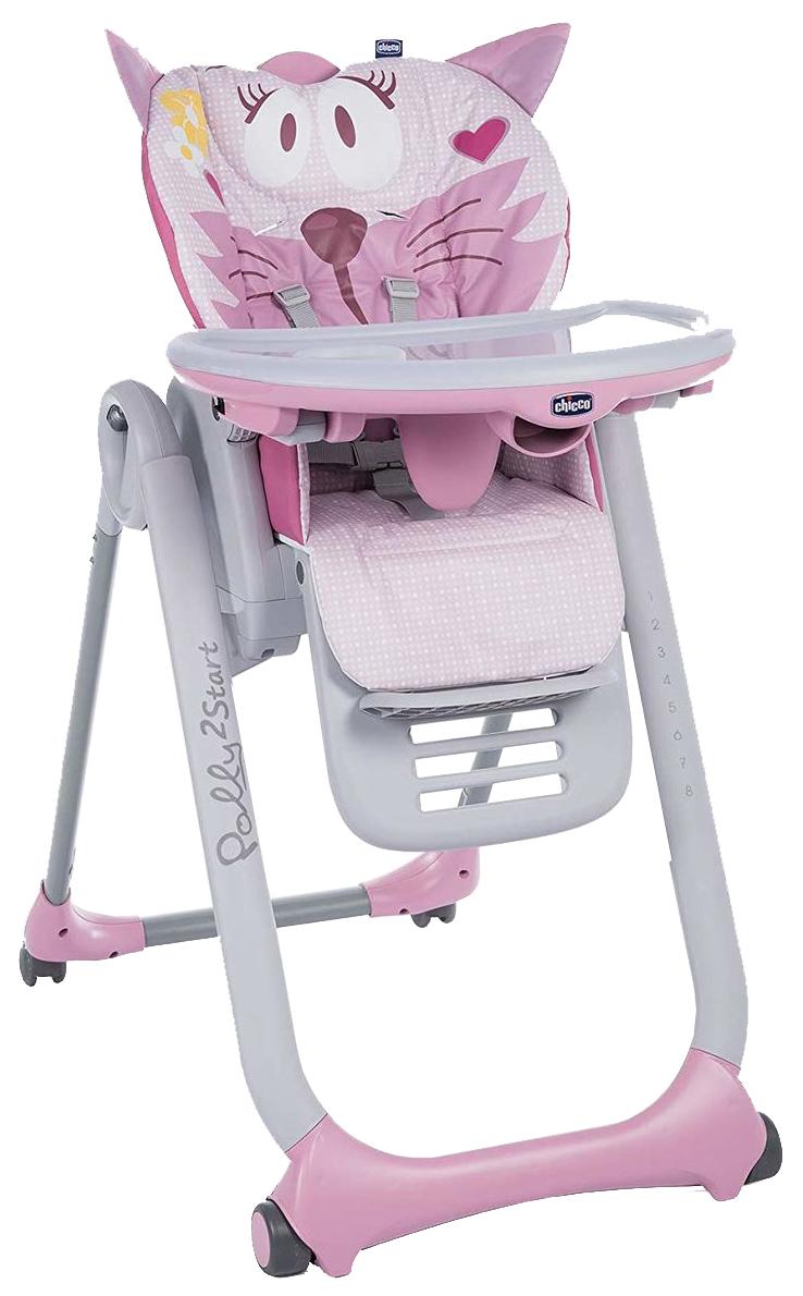 Стульчик для кормления Chicco Polly 2Start Miss Pink фото