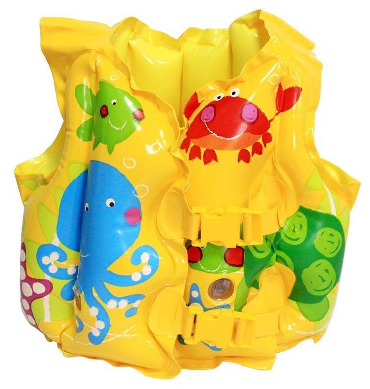 Надувной жилет Intex Морские животные желтый