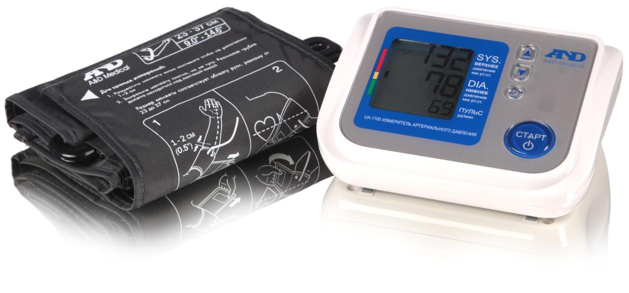 Купить Тонометр A&D UA-1100 автоматический на плечо с адаптером