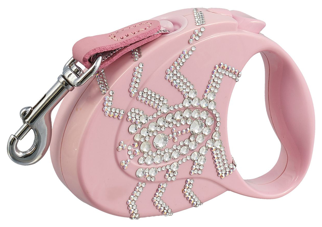 Рулетка для собак Flexi Glam Spider S Розовая