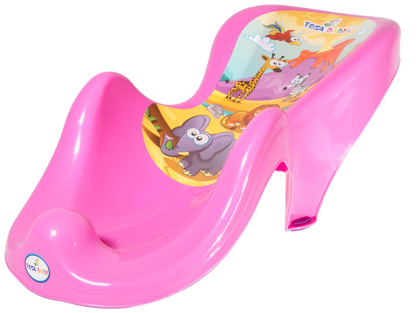 Купить Горка для купания Tega Baby Сафари розовый,