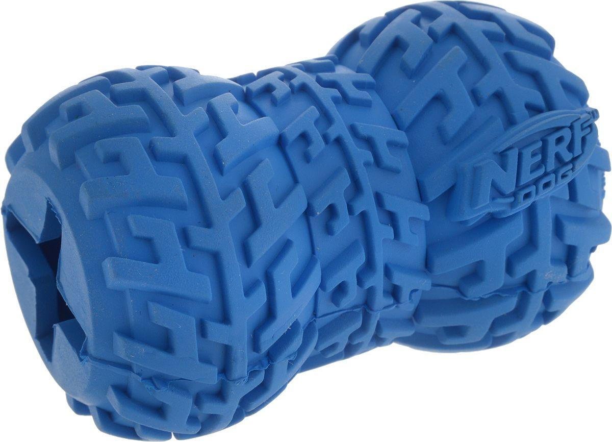 Игрушка для лакомств для собак NERF Игрушка-кормушка, синий, длина 7 см