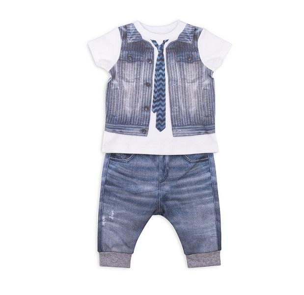 Комплект 2 пр. Папитто для мальчика Fashion Jeans 513-04 р.22-74