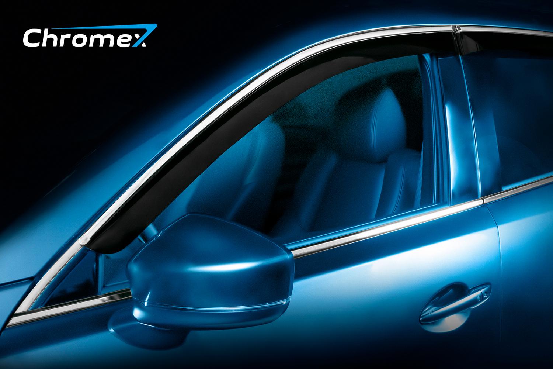 Дефлекторы окон Chromex для BMW X5 II (E70) 2006-2013, хром, 4 шт