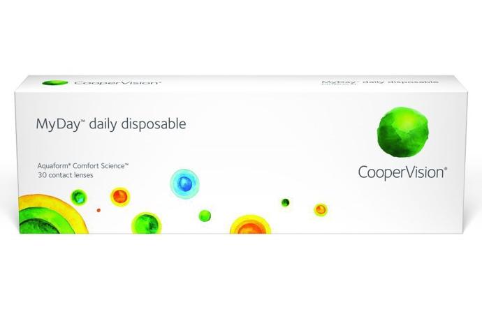 Купить Контактные линзы MyDay Daily disposable 30 линз R 8, 4 -3, 75