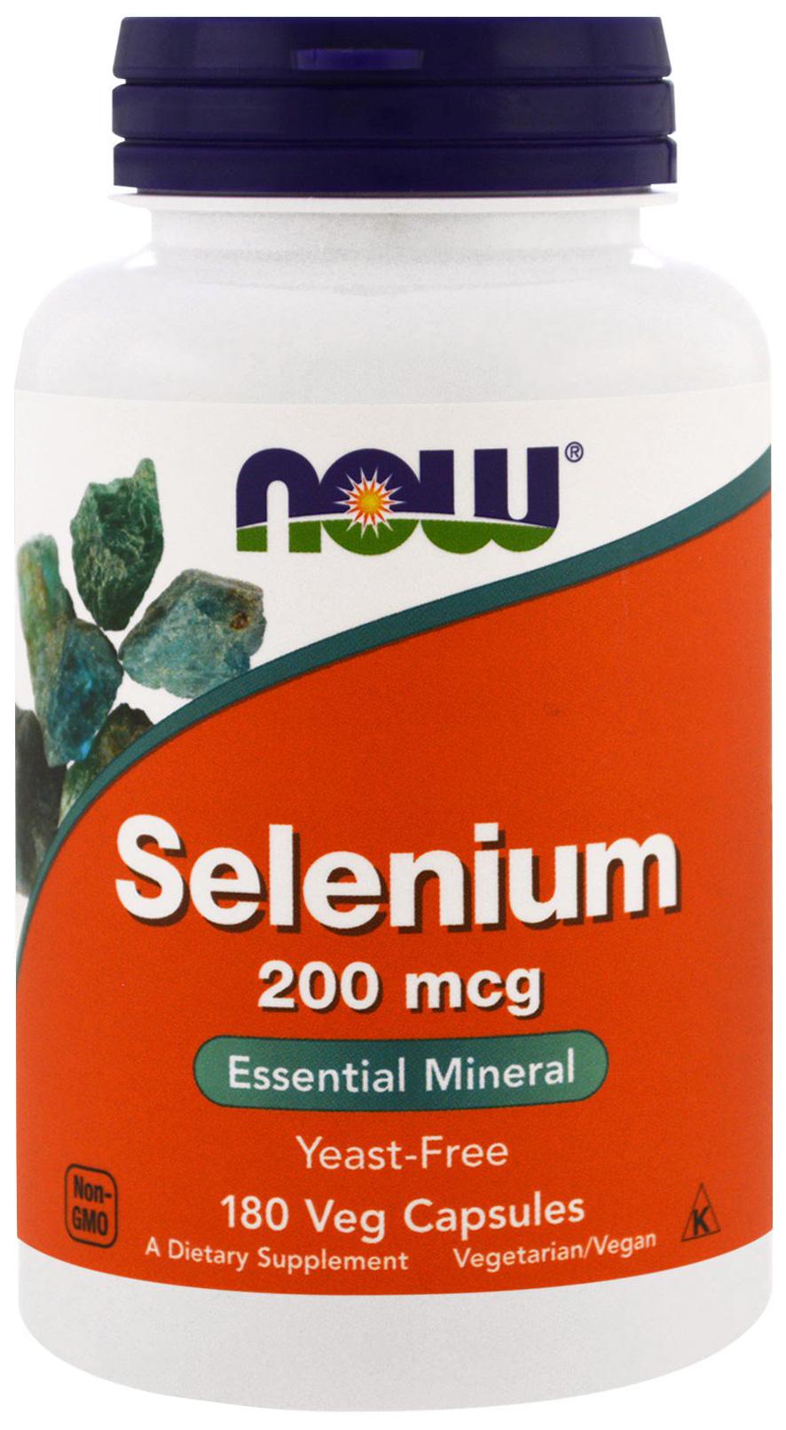 Купить Витаминно-минеральный комплекс NOW Selenium 180 капс.