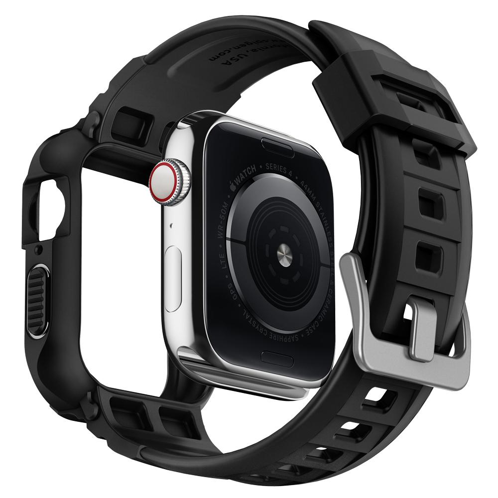 Чехол с ремешком Spigen Rugged Armor Pro для Apple Watch series 4 44 mm (Black) фото