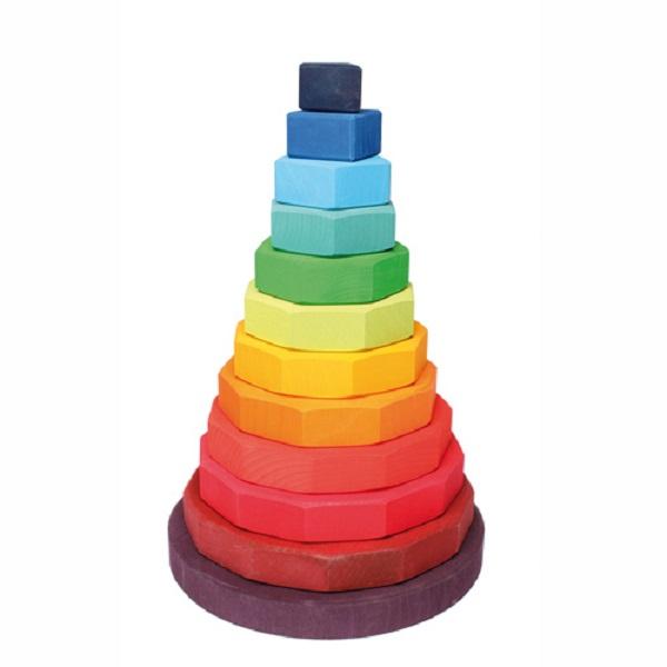 Купить Пирамидка Grimm's Большая из прямоугольников 11090, Grimms, Сортеры