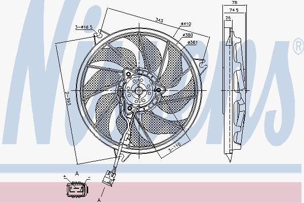 Вентилятор охлаждения двигателя NISSENS 85787