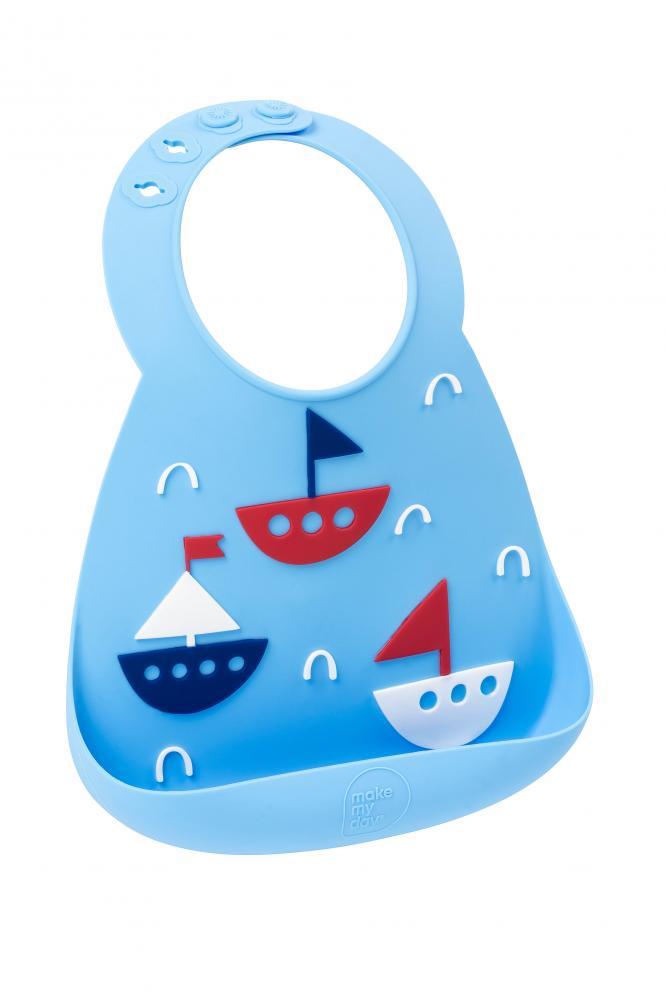 Купить Нагрудник детский Make my day boats, Слюнявчики