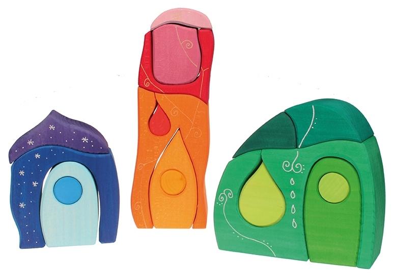 Купить Строительные кубики Grimms Сказочная деревня, Развивающие кубики