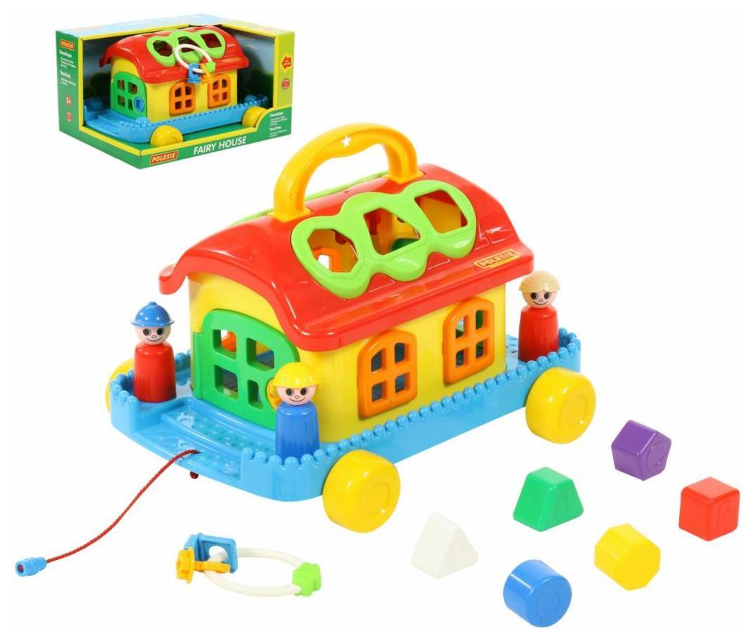 Развивающая игрушка Полесье Сказочный домик на колёсиках в коробке