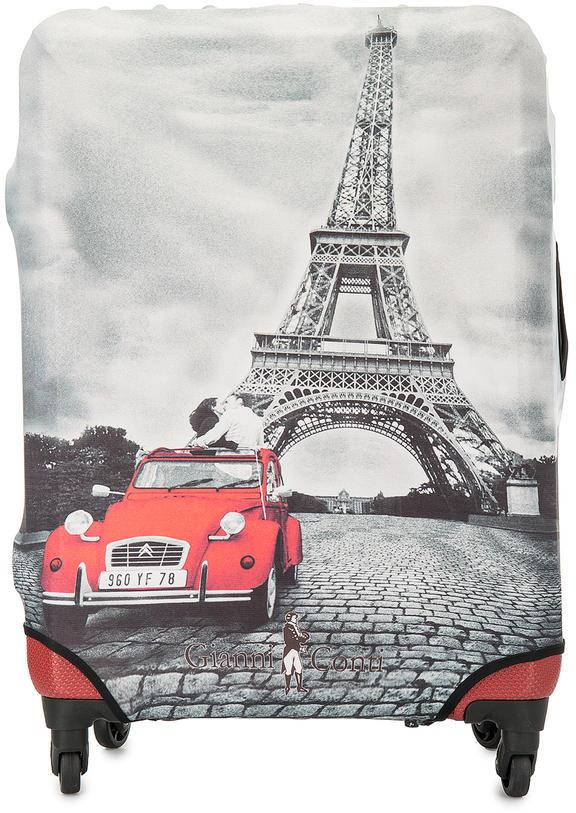 Чехол на чемодан Gianni Conti 9020M travel Paris серый.