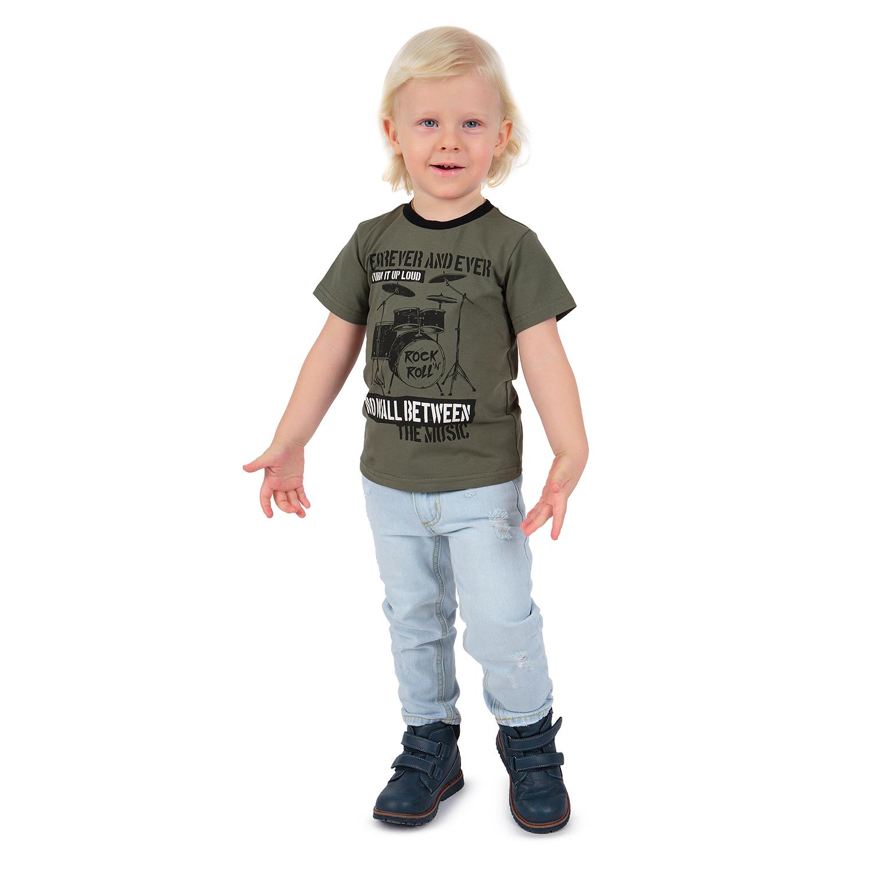 Купить GL001124283, Футболка Leader Kids Рок звезда хаки р.110,