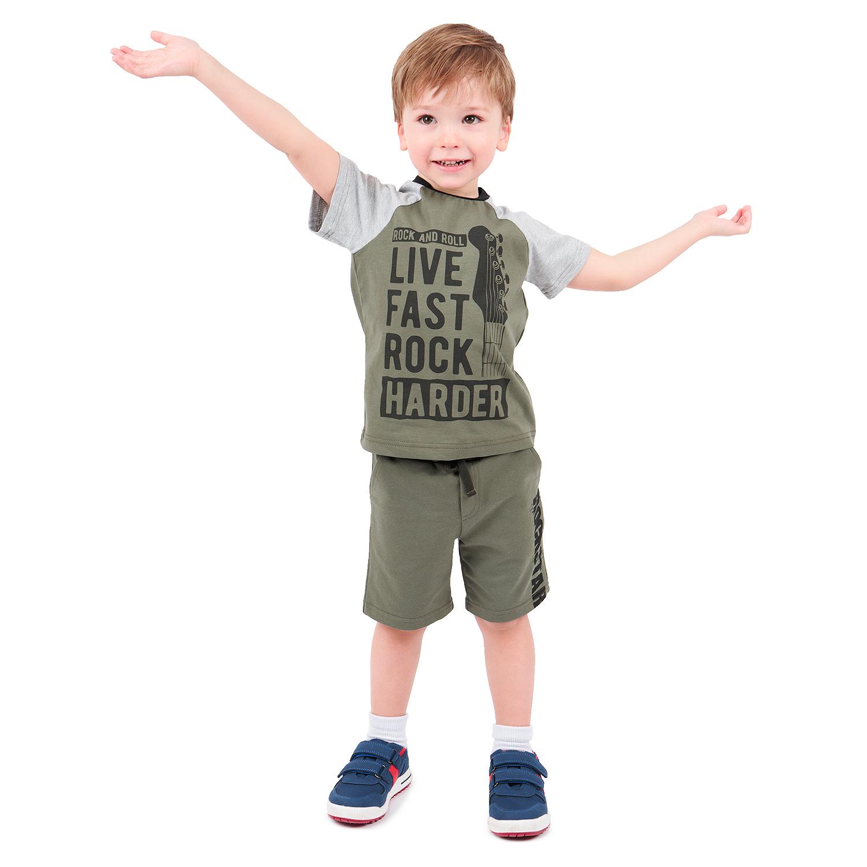 Купить GL001124288, Футболка Leader Kids Рок звезда хаки р.110,