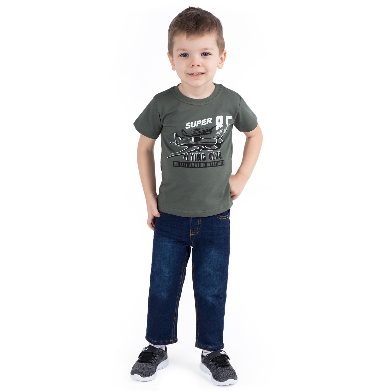 Купить GL001132270, Футболка Leader Kids Авиатор хаки р.110,
