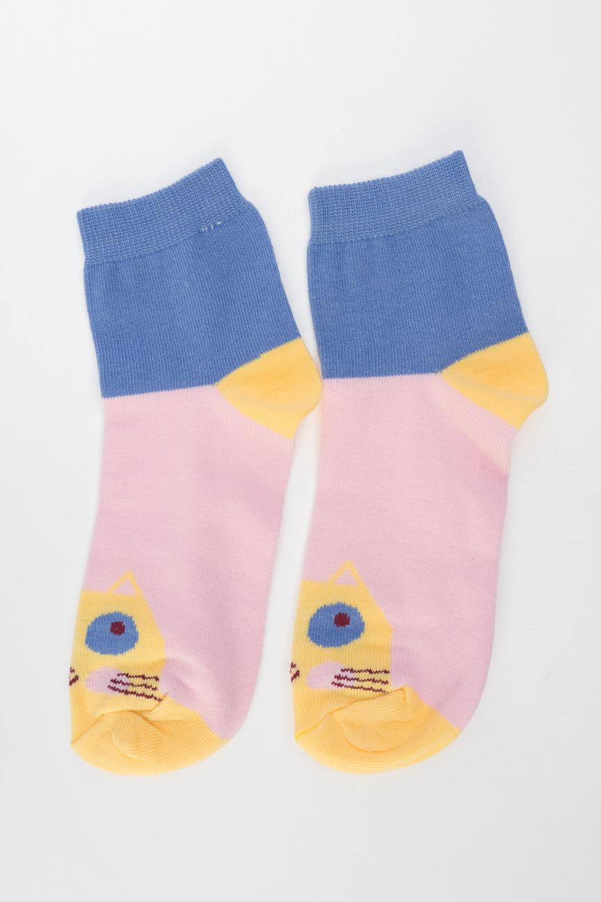 Носки женские Мой размер Ж-019 синие 34-36