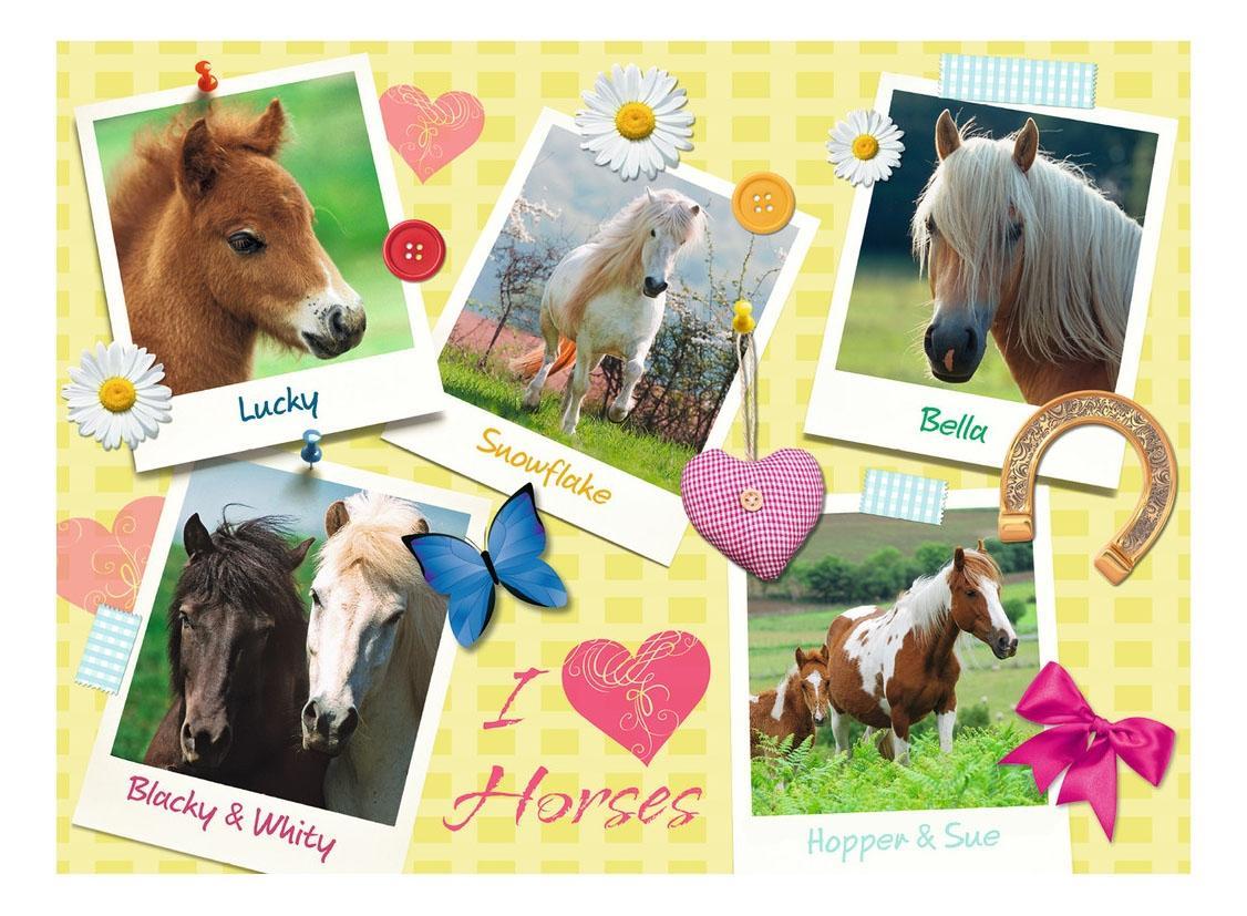 Купить Мои любимые лошади, Пазл Ravensburger лошадь 300 деталей,