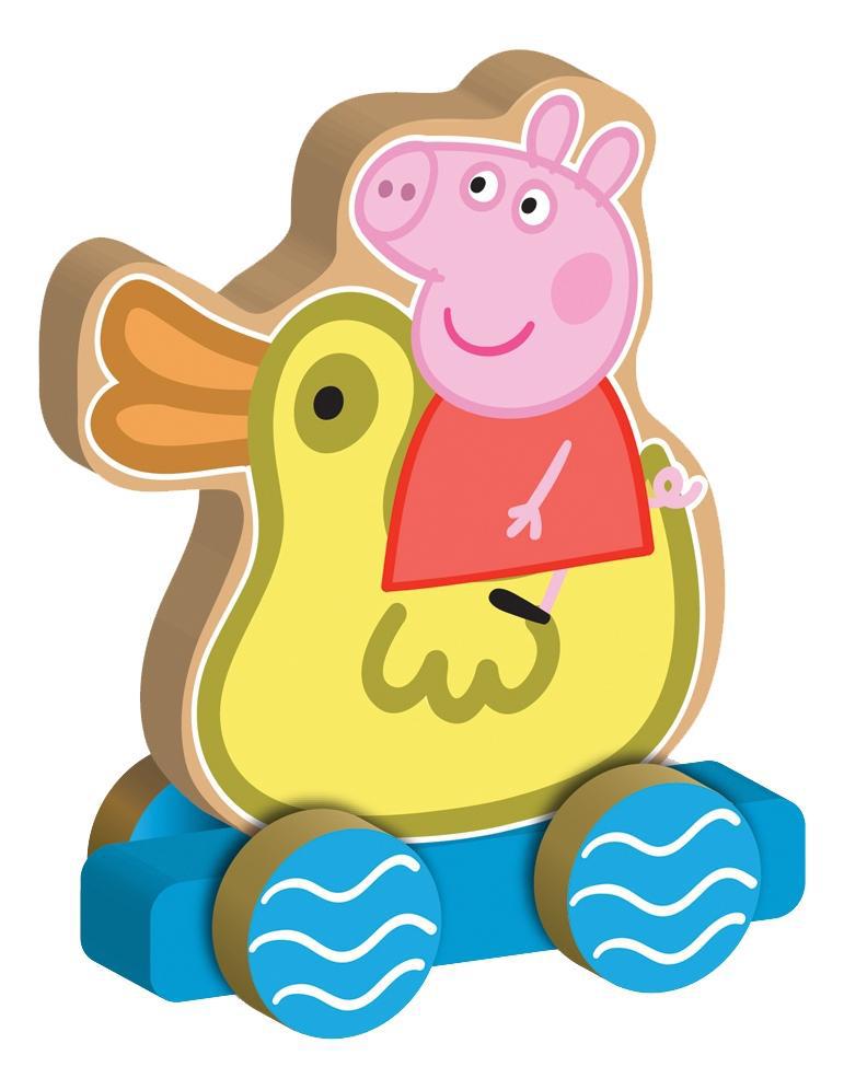 Купить Детская каталка Peppa Pig Свинка Peppa на уточке 24444, Игрушечные машинки