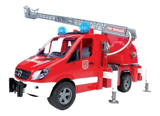 Купить MB Sprinter пожарная, Пожарная машина Bruder MB Sprinter с лестницей и помпой с модулем, Игрушечный транспорт Bruder