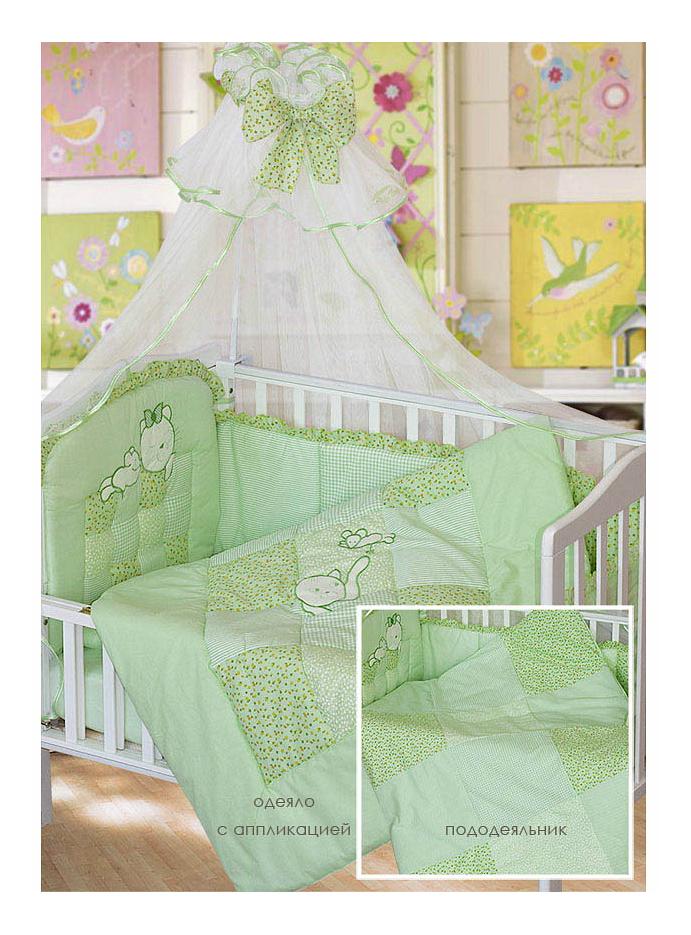 Купить Комплект в кроватку Золотой гусь 7 предметов Кошки-мышки зеленый, Золотой Гусь, Комплекты детского постельного белья