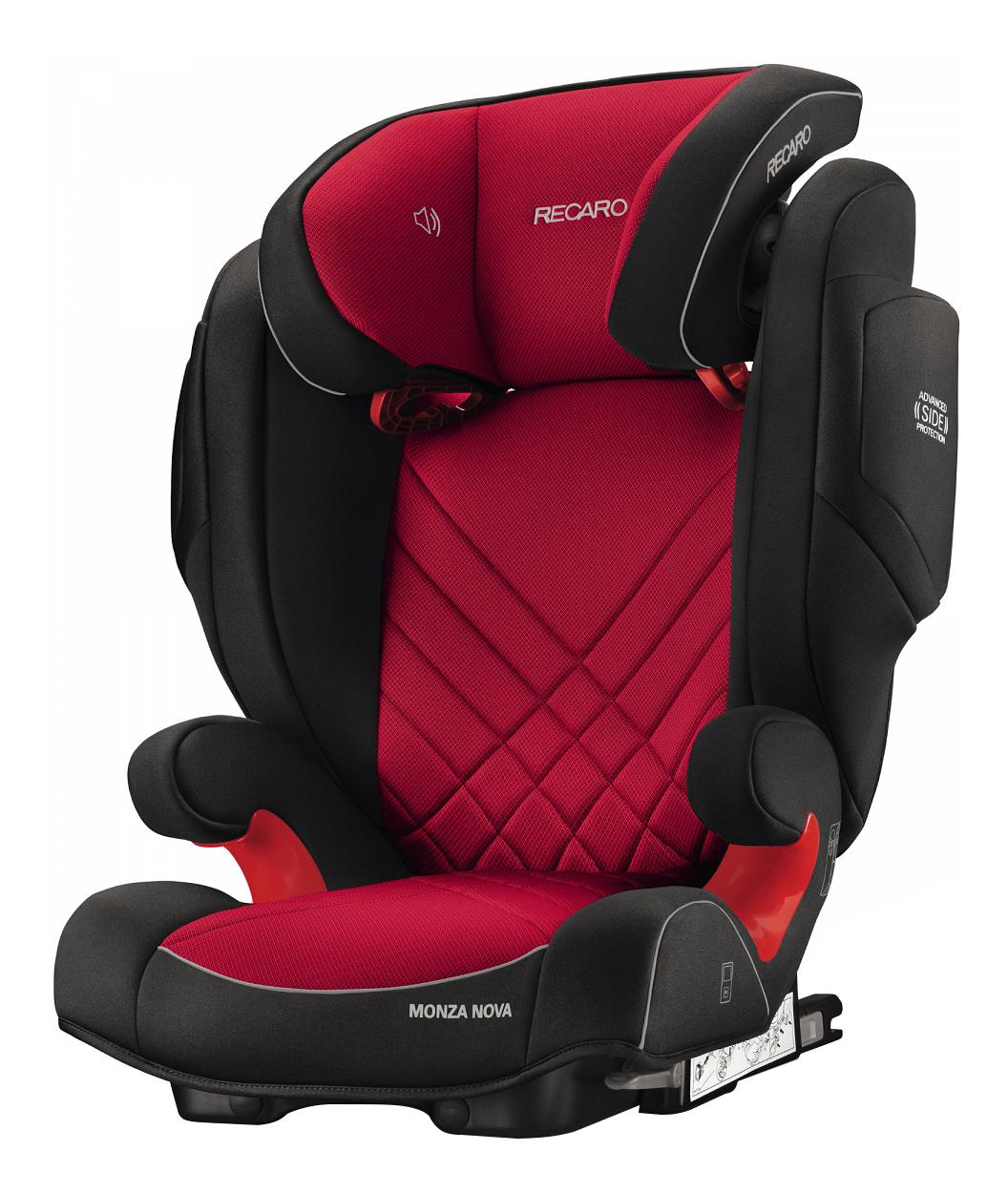 Купить Автокресло RECARO Monza Nova 2 Seatfix Racing группа 2/3, Красный-Черный, Детские автокресла