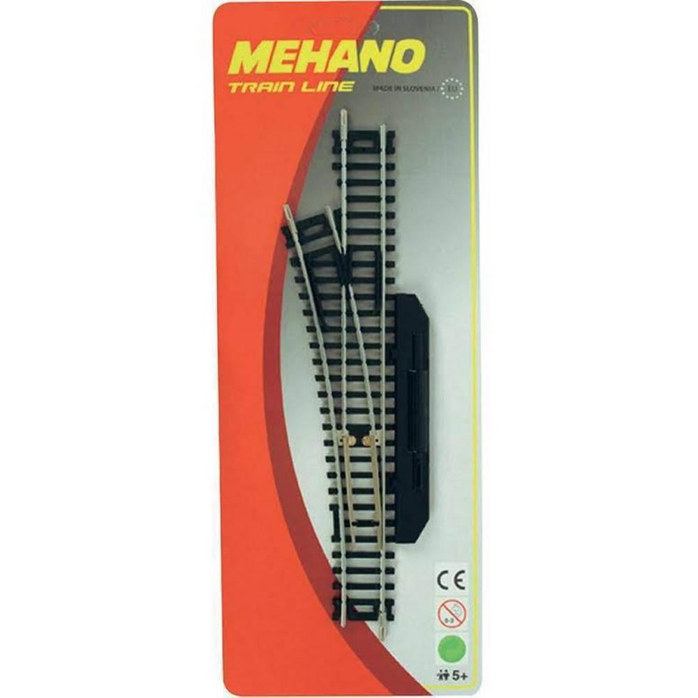Купить Стрелка левая для железной дороги Mehano ручное переключение (F282), Детские железные дороги
