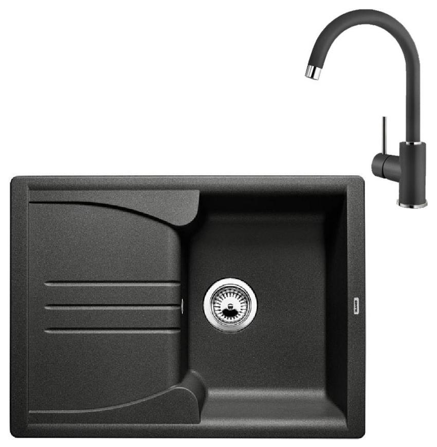 Комплект Blanco Мойка для кухни ENOS 40 S 513799 антрацит + смеситель MIDA 519415 антрацит фото