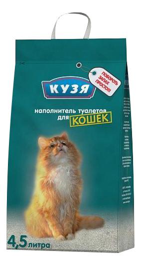 Впитывающий наполнитель для котят Кузя бентонитовый,
