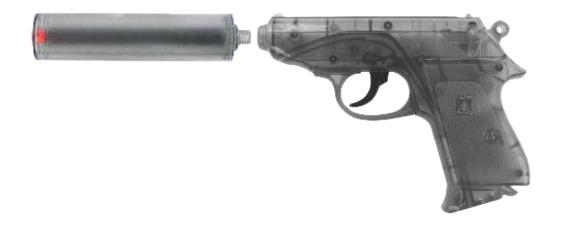 Купить Специальный агент PPK, Пистолет с глушителем Специальный Агент PPK 25-зарядный, Sohni-Wicke, Игрушечные пистолеты