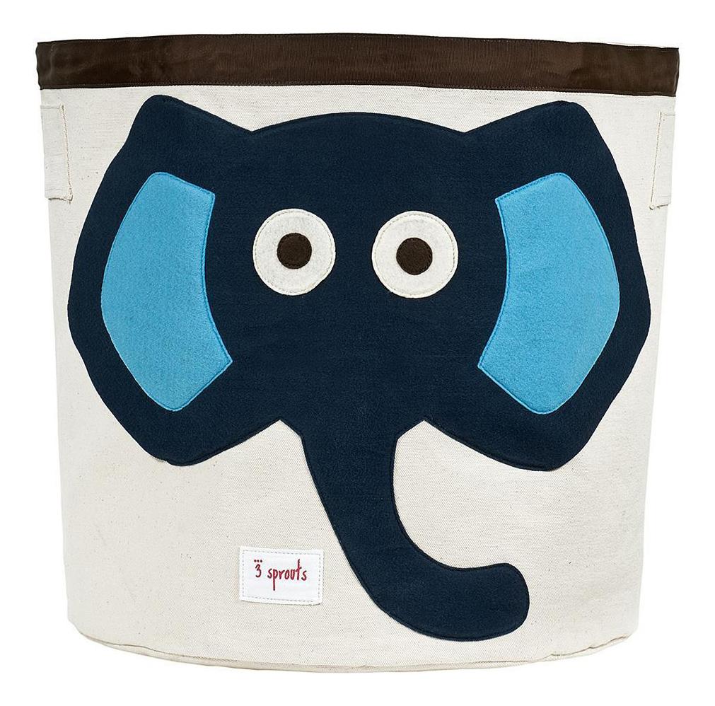 Купить Корзина для хранения игрушек 3 sprouts Слоненок синий, Корзины для хранения игрушек