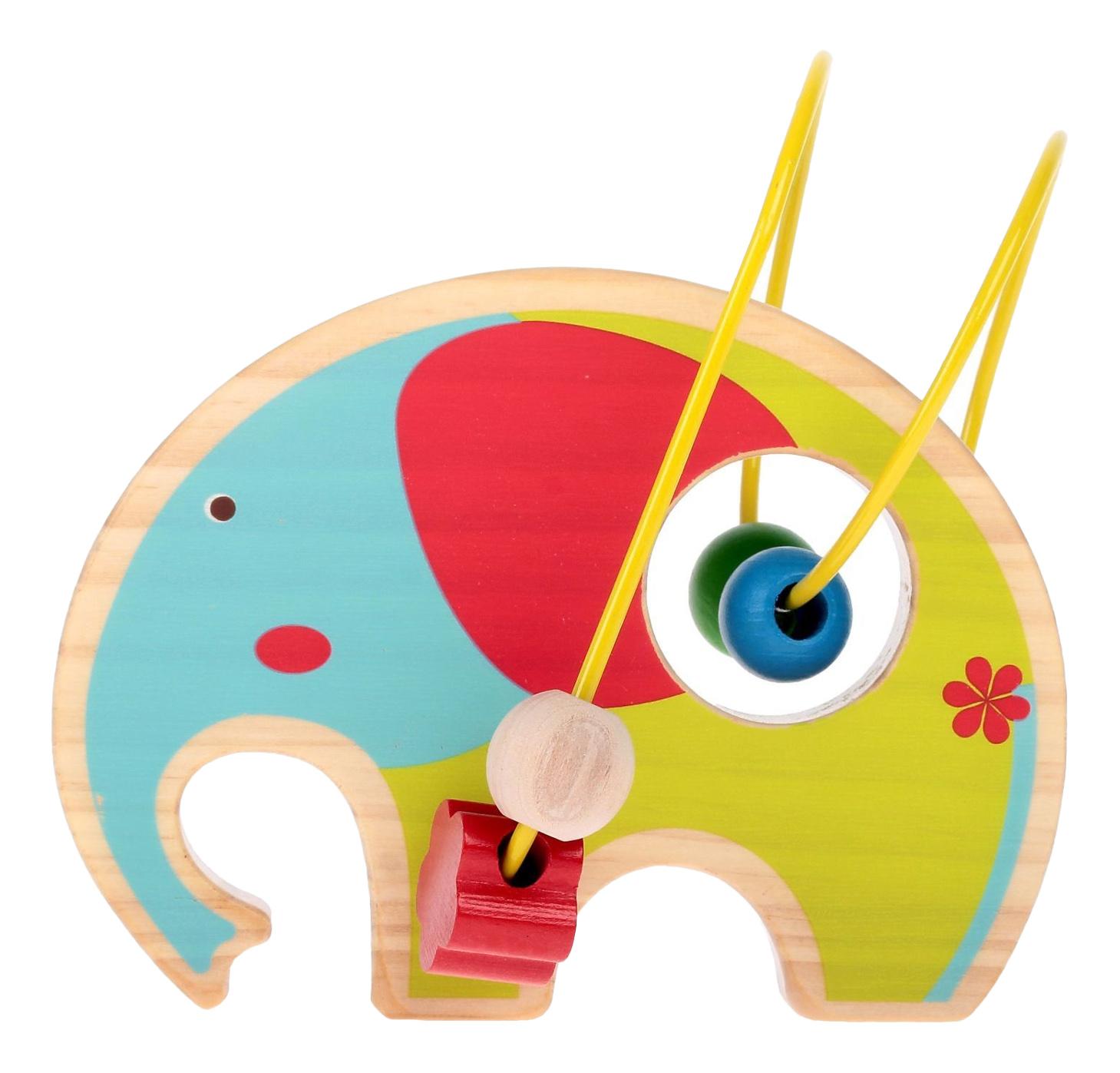 Купить Лабиринт Слон, Деревянная игрушка для малышей Lucy&Leo Лабиринт Слон, Деревянные лабиринты