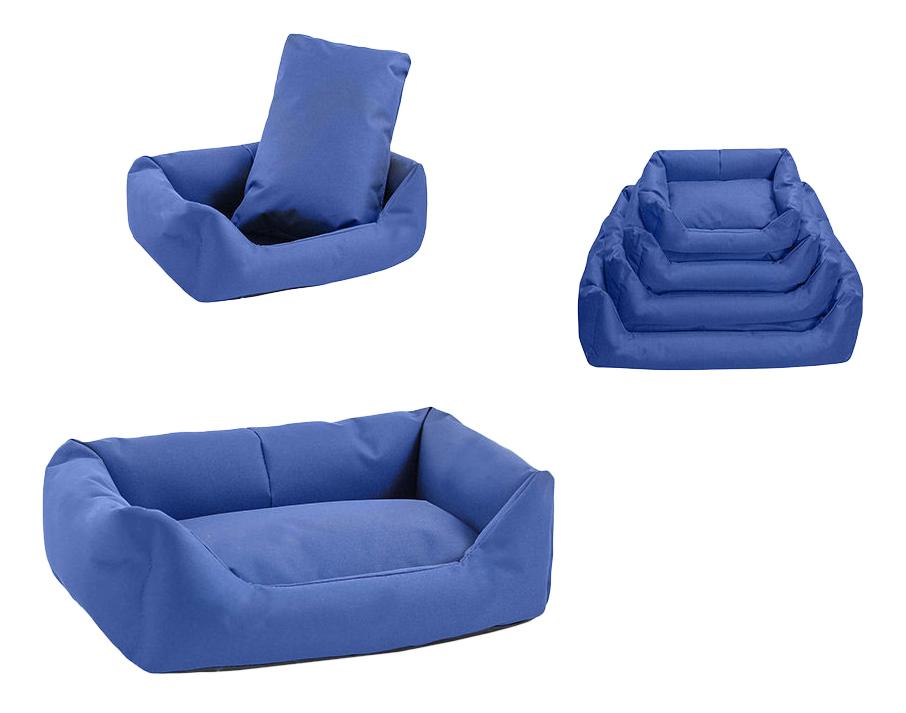 Лежанка для собак Дарэлл 40x55x18см синий фото
