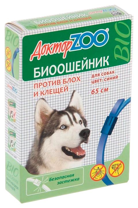 Ошейник для собак ДОКТОР ZOO БИО СИНИЙ от блох и клещей