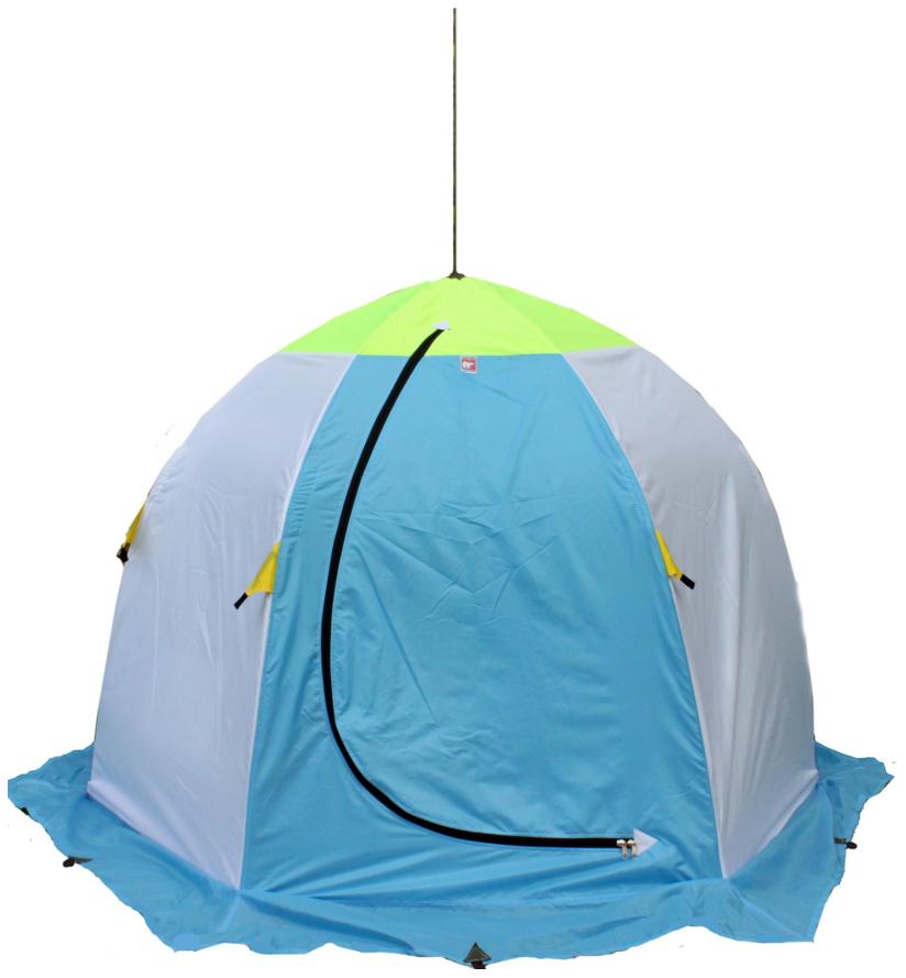 Миниатюра Палатка-автомат Медведь 2 двухместная голубая/зеленая №1