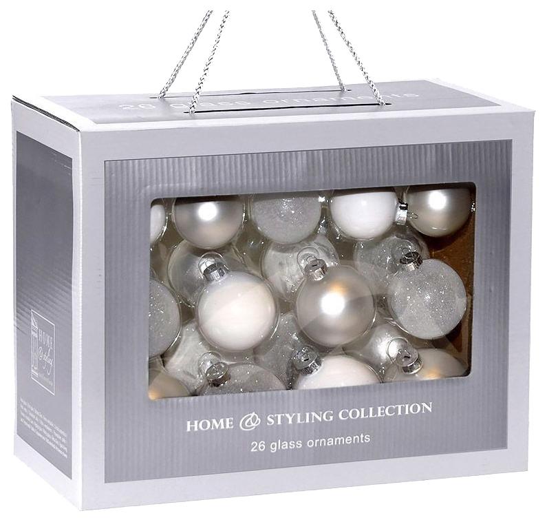 Набор елочных игрушек Koopman ABR400040 Белый