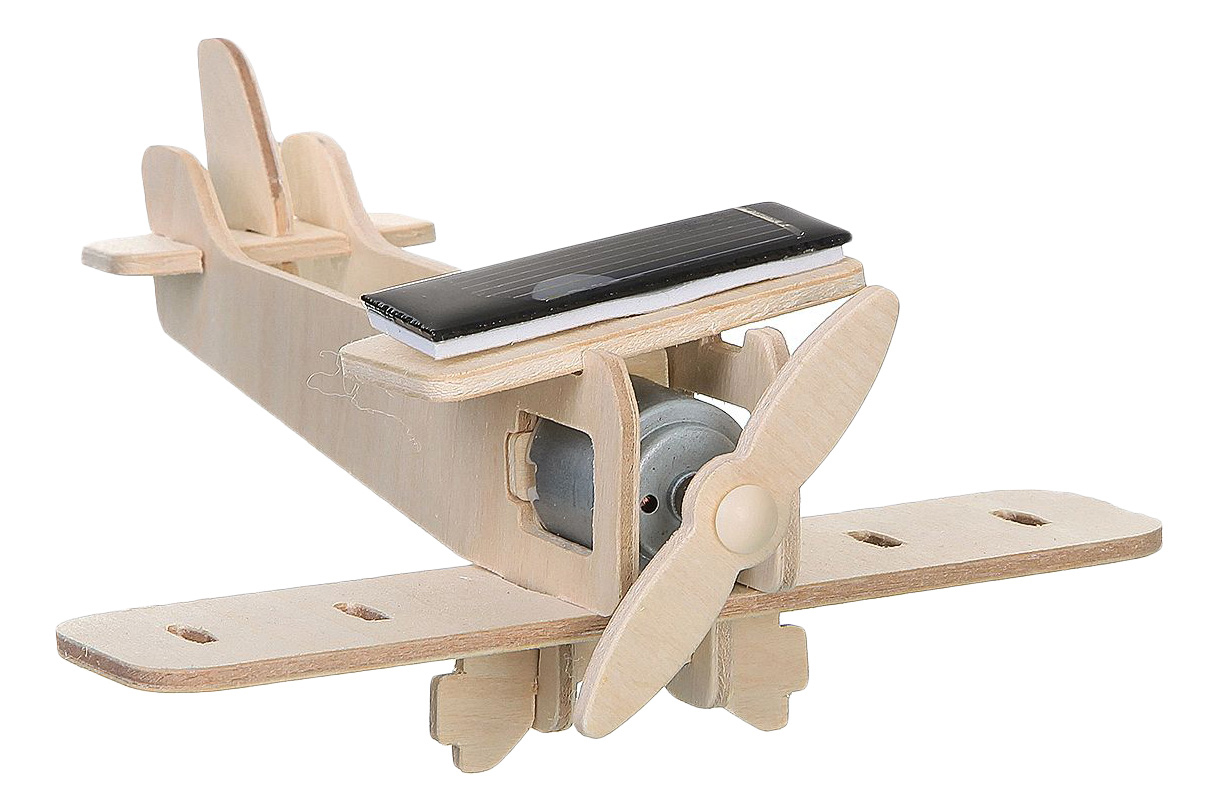 Модели для сборки Bondibon Биплан на солнечной батарее фото