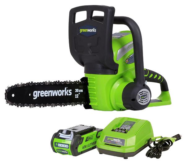 Аккумуляторная цепная пила Greenworks G40CS30 SET 1 20117a
