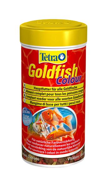 Корм для золотых рыбок Tetra Goldfish Colour, для улучшения окраса, хлопья, 100 мл фото